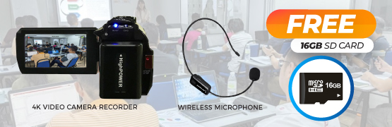 Video Recording + Wireless Microphone Combo Rental